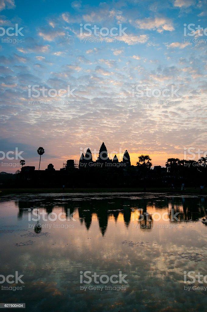 Beautiful sunrise Angkor Wat, morning Siem Reap, Cambodia stock photo