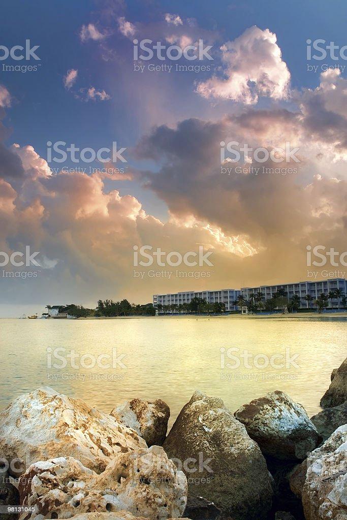 Beautiful Sunrise at a Beach royalty-free stock photo