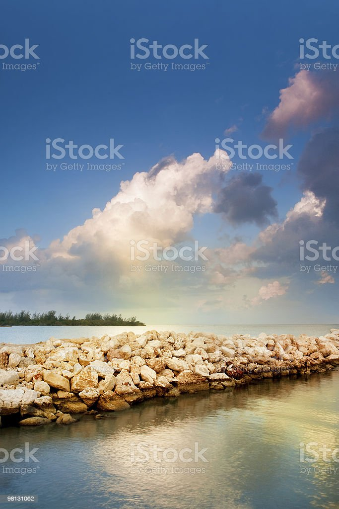 Beautiful Sunrise at a Beach royalty-free stock photo