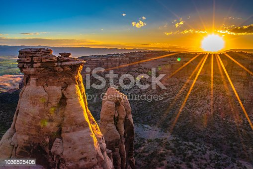 Beautiful Sunrise in Colorado National Monument in Grand Junction, Colorado