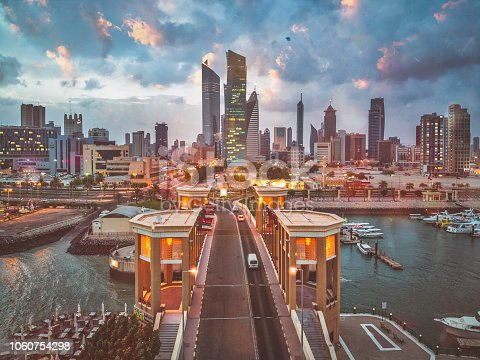 istock Beautiful Sunrise in Kuwait City 1060754298