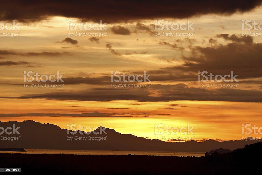 Beautiful sunrise in the sea royalty-free stock photo