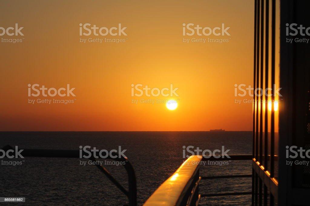 Beautiful Sunrise Miami stock photo