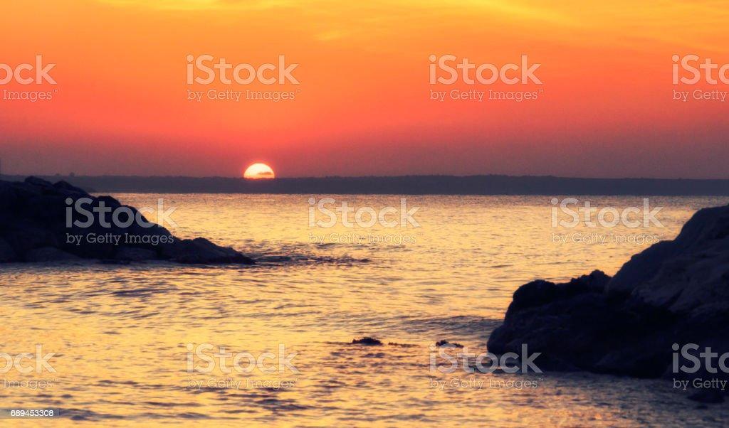 Wunderschönen Sonnenaufgang über Larnaca, Zypern – Foto