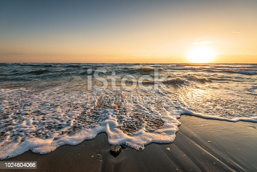 istock Beautiful sunrise over the sea. 1024604066