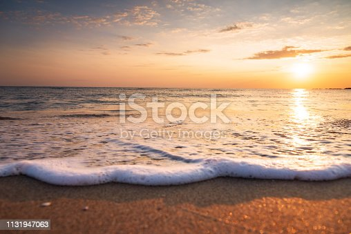 istock Beautiful sunrise over the sea. 1131947063