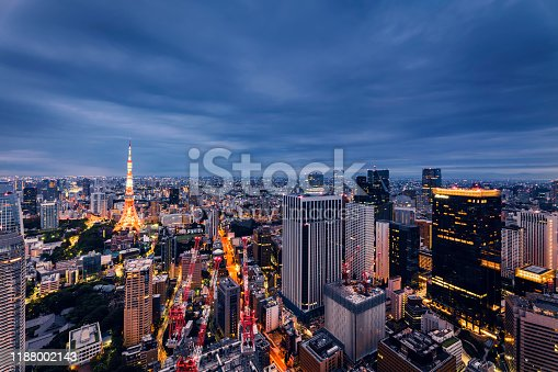 512524478 istock photo Beautiful Sunrise Scene of Tokyo Skyline,Japan 1188002143