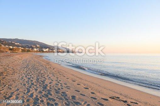 Beautiful sunrise sunset on Corsican Islande