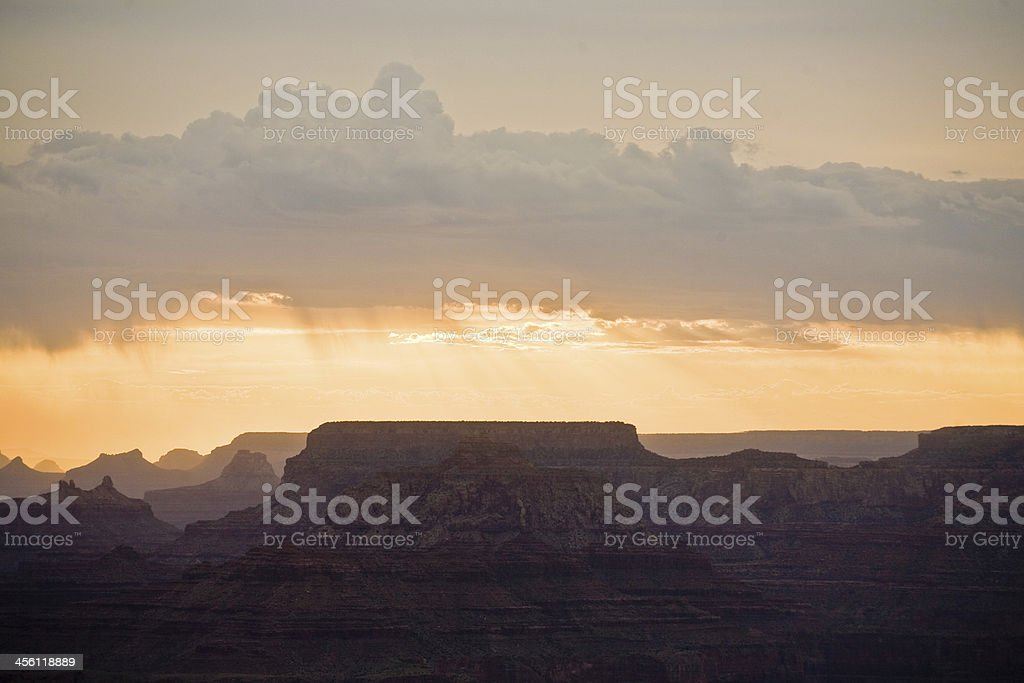 beautiful sunset at desert view point in the Great Canyon royalty-free stock photo