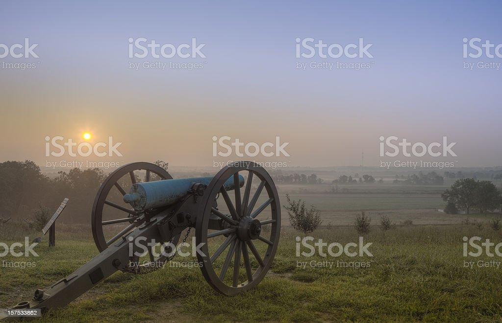Beautiful sunset at Gettysburg stock photo