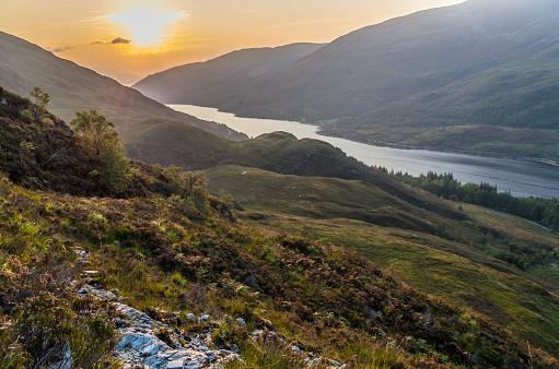Beautiful Sunset At Loch Leven In Scotland Great Brittain Stockfoto und mehr Bilder von Berg