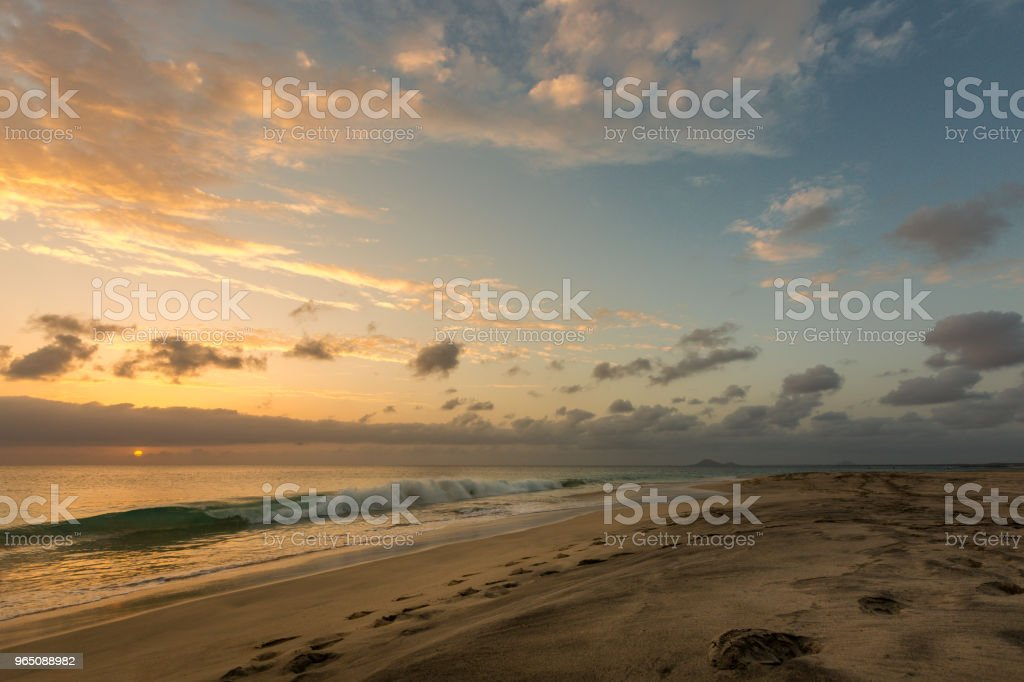 Beautiful sunset at seascape royalty-free stock photo