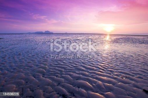 beautiful sunset at tropical sea