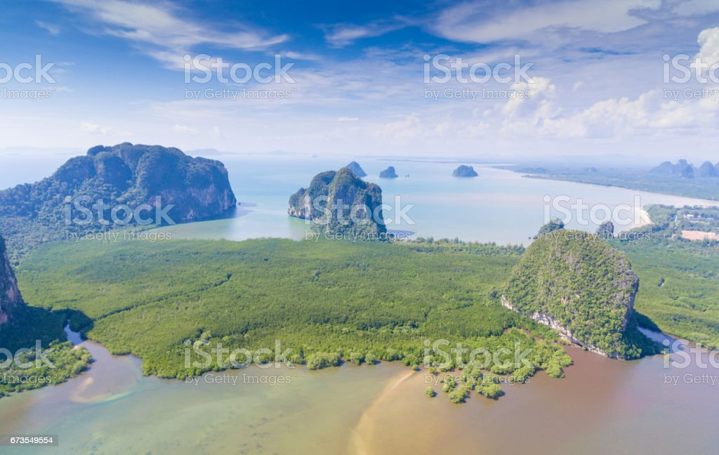 Beautiful sunset at tropical sea with long tail boat in south thailand royalty-free stock photo