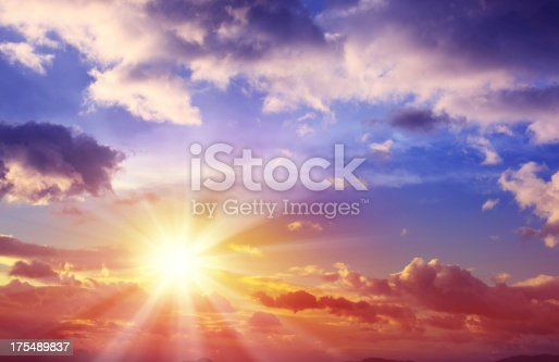 Beautiful sunset sky with dramatic cloudscape.Similar images -