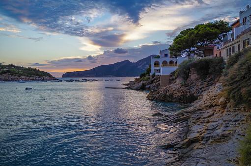 Beautiful Sunset In Sant Elm At Gr 221 Mallorca Spain Stockfoto und mehr Bilder von Abenddämmerung