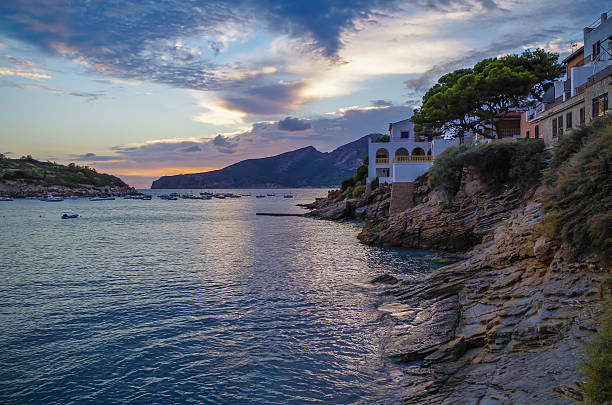 Beautiful sunset in Sant Elm at GR 221, Mallorca, Spain – Foto