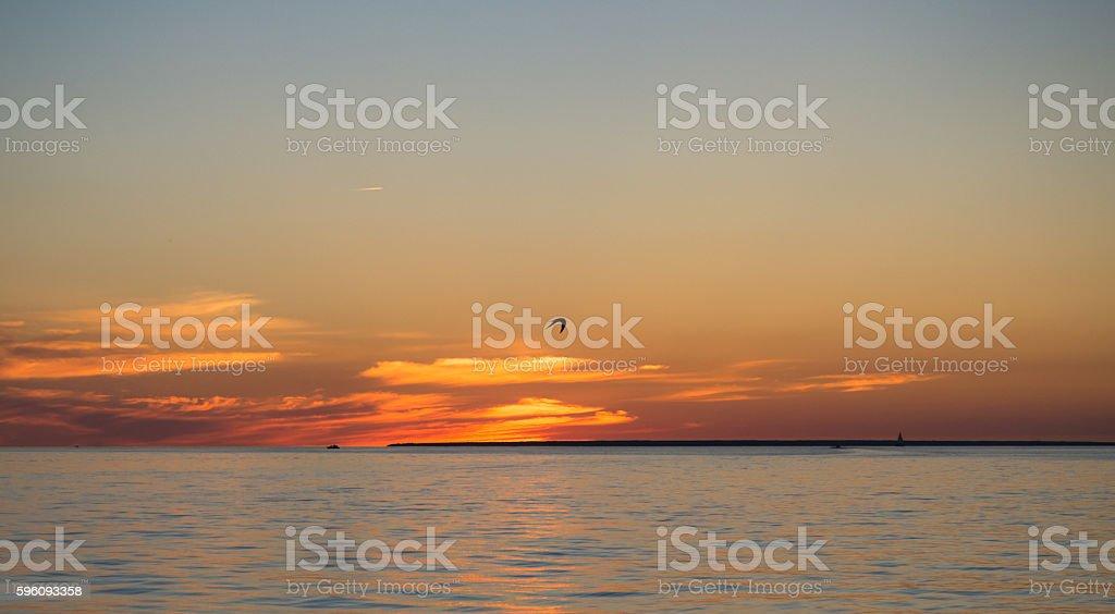 Beautiful Sunset in Tallinn on the Balticsea royalty-free stock photo