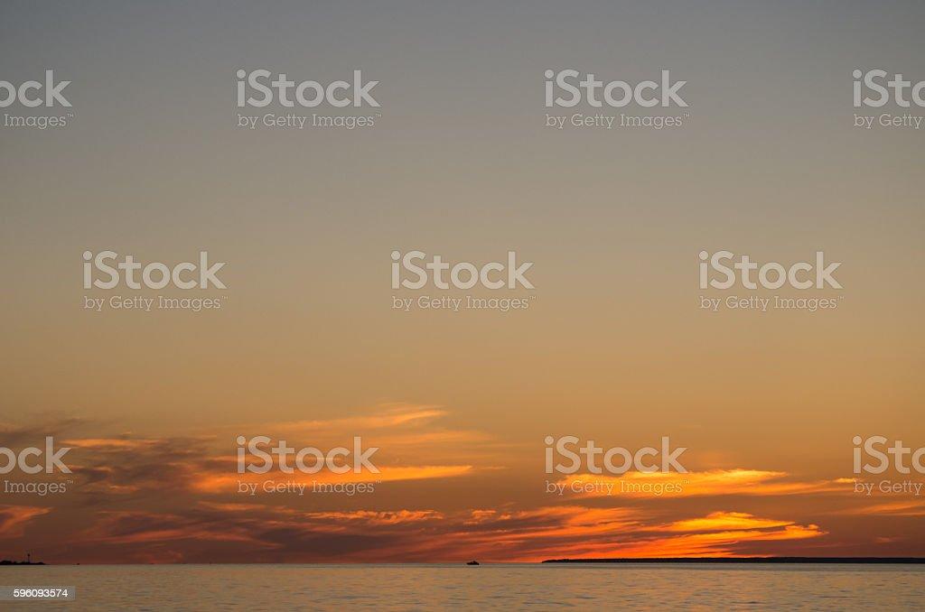 Beautiful Sunset in Tallinn on the Balticsea Lizenzfreies stock-foto