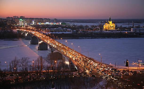 Schönen Sonnenuntergang im winter Nischni Nowgorod – Foto