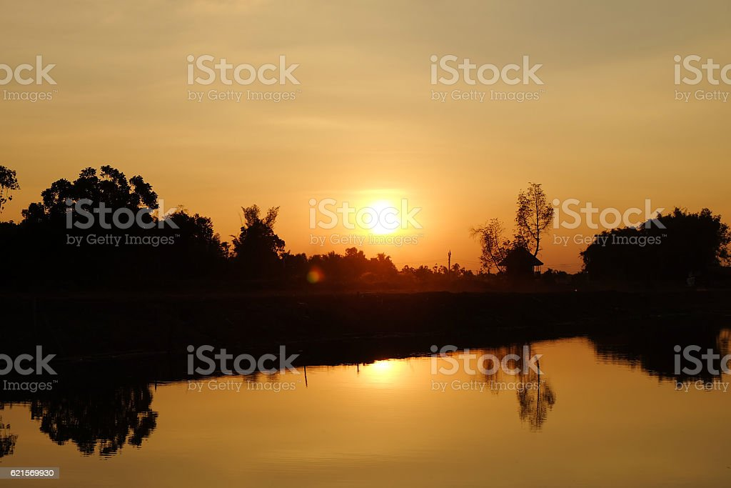 Bellissimo tramonto paesaggio foto stock royalty-free