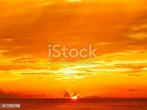 Sunset of Okinawa prefecture , Japan.