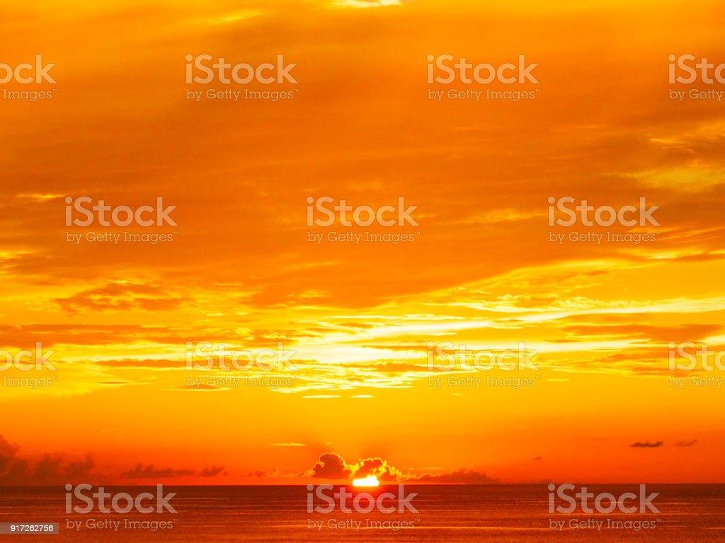 沖縄の美しい夕日 ストックフォト