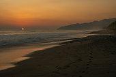A Beautiful Sunset on a Beach in Costa Rica