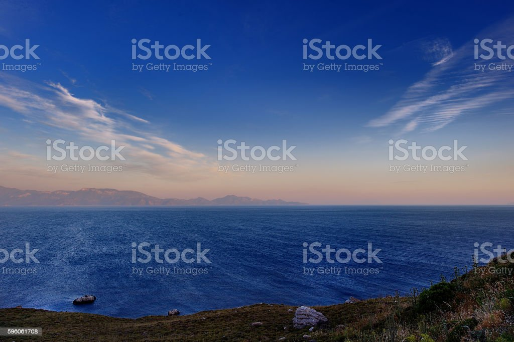 Beautiful sunset on Kos island royalty-free stock photo