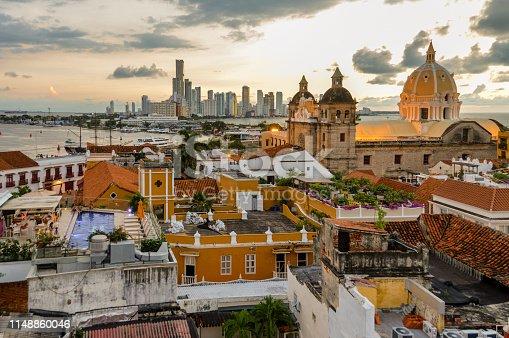 1148861090istockphoto Beautiful sunset over Cartagena, Colombia 1148860046