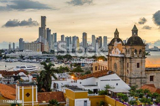 1148861090istockphoto Beautiful sunset over Cartagena, Colombia 1148861458
