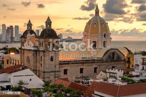 1148861090istockphoto Beautiful sunset over Cartagena, Colombia 1148861538