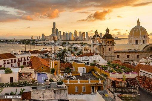 1148861090istockphoto Beautiful sunset over Cartagena, Colombia 1148861600