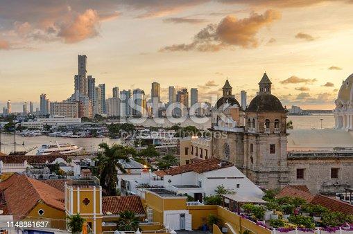 1148861090istockphoto Beautiful sunset over Cartagena, Colombia 1148861637