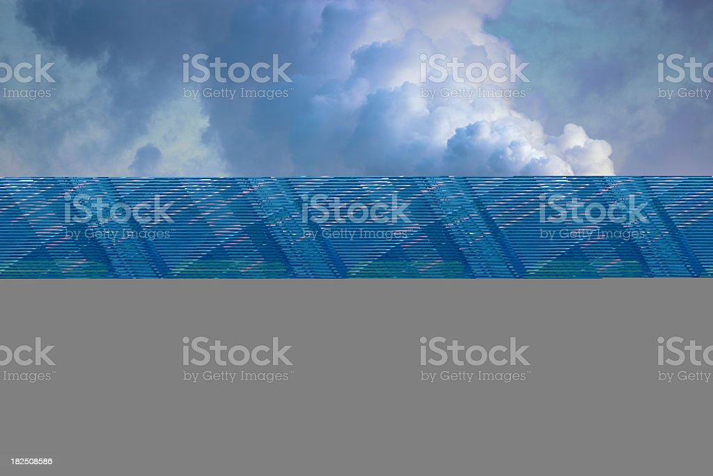 Beautiful sunset over Moscow city. Bird's eye view royalty-free stock photo