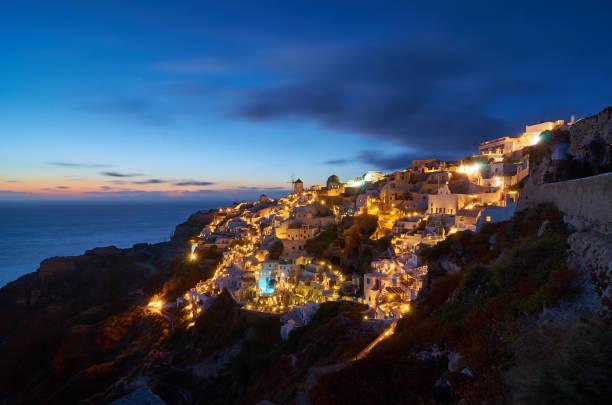 Sonnenuntergang in Oia auf Santorin - Griechenland – Foto