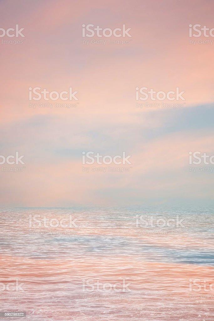 Beautiful sunset over sea royaltyfri bildbanksbilder