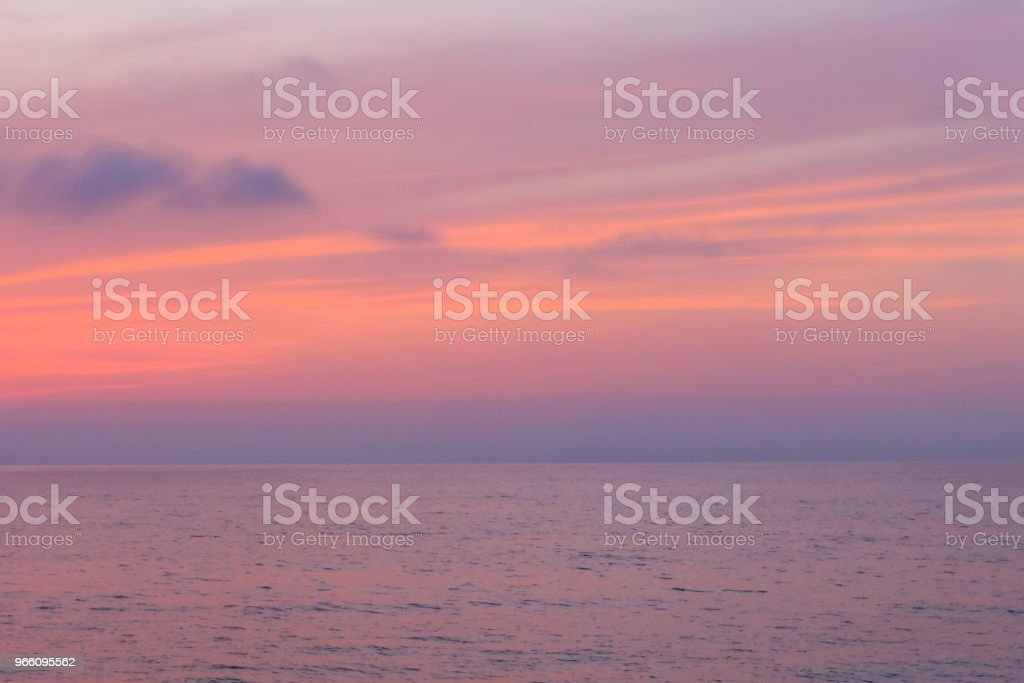 Sonnenuntergang über dem Schwarzen Meer - Lizenzfrei Abenddämmerung Stock-Foto