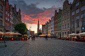 istock A beautiful sunset over the Long Market in Gdask with many tourists and outdoor restaurants 1334438775