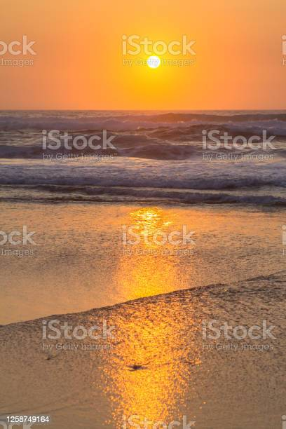Photo of Beautiful sunset over the ocean