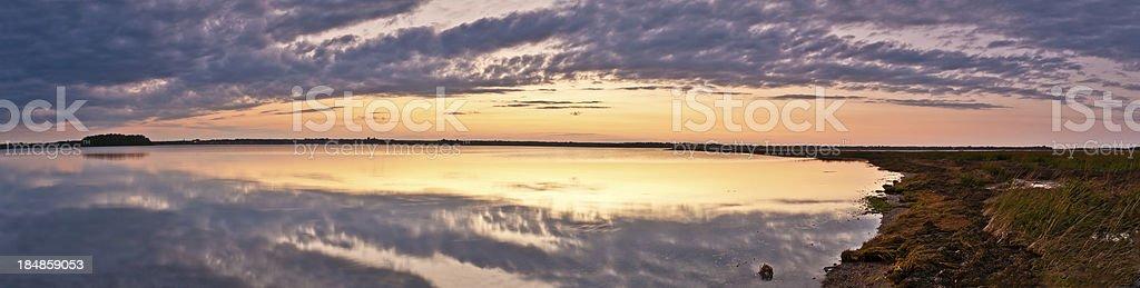 Beautiful sunset panoramic stock photo