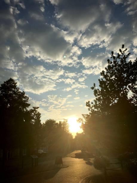 A beautiful sunset. stock photo