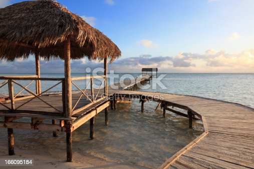 Sunset at beautiful sandy beach, Cayo Guillermo, Ciego de Avila Province, Cuba