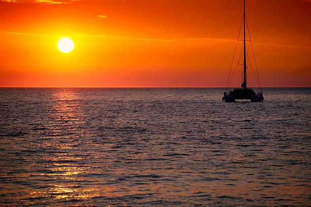 beautiful sunset - katamaran bildbanksfoton och bilder