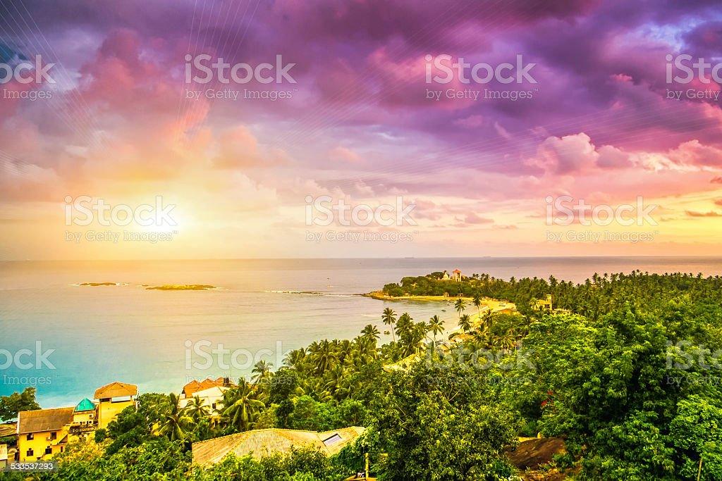 Beautiful sunset. stock photo
