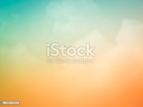 Beautiful sunset sky background at summer nature