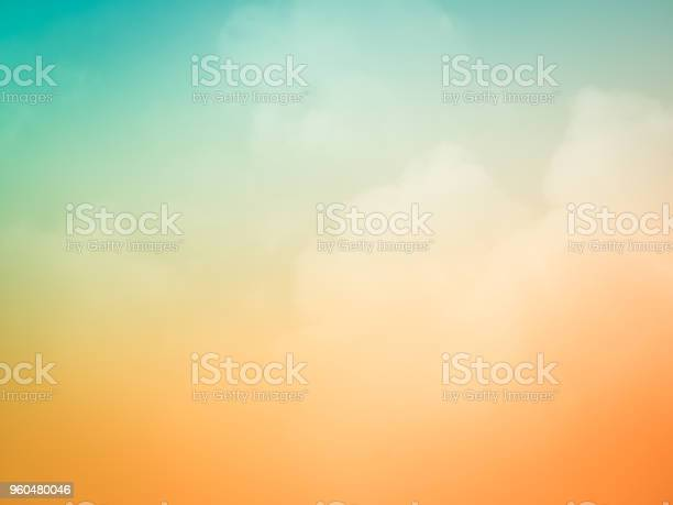 Photo of Beautiful sunset sky background at summer nature