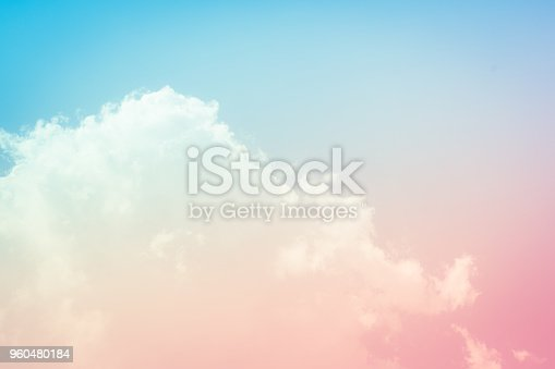 istock Beautiful sunset sky background at summer nature 960480184