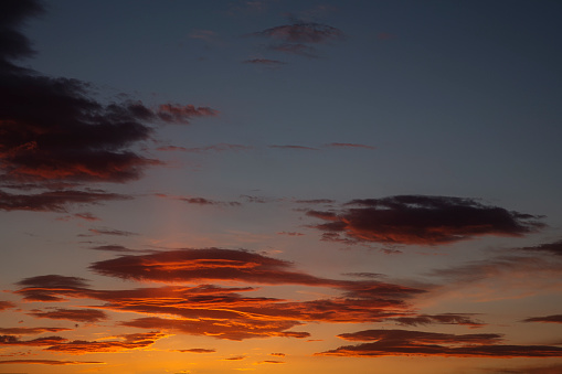 Beautiful Sunset With Clouds