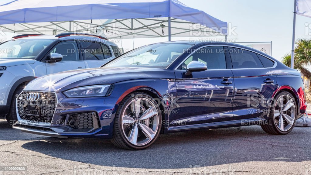 Beautiful Super Fast Car Model Audi Rs5 Sportback In Blue Navy Color Stock Photo Download Image Now Istock